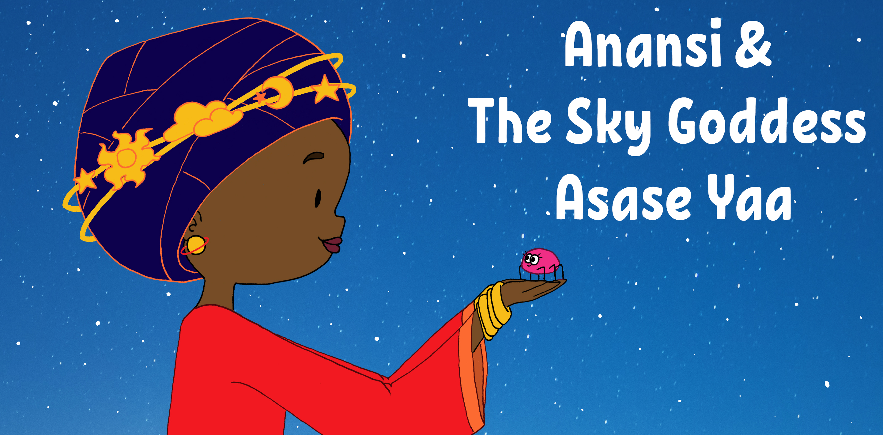 Anansi and the Sky Goddess Asase Yaa by Bleu Beckford-Burrell